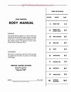 1960 Pontiac Body Shop Manual   Repair Book