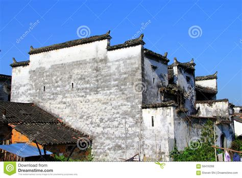 Architettura Della Cina Huizhou Fotografia Stock