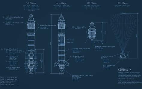 Rocket Kerbal X Blueprint Kerbal Space Program spaceship d