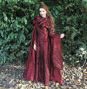 Game of Thrones Melisandre Costume Red Dress Cloak Cosplay