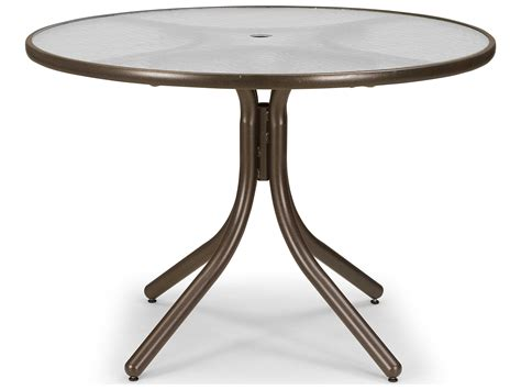 round glass patio table with umbrella hole telescope casual glass 42 39 39 round dining height table with