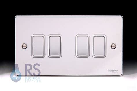 low profile light switch schneider low profile light switch polished chrome