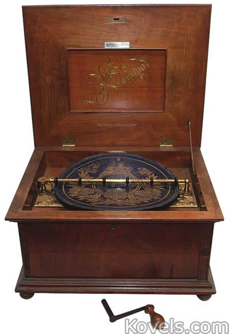 Musical boxes date back to the 19th century and since then they have played both functional and decorative roles. Antique Music | Musical Collectibles Price Guide ...