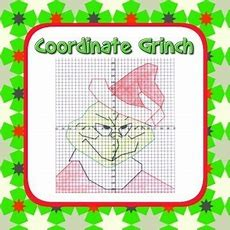 Grinch Coordinate Graphing Fun!  Ordered Pairs, Blank Grid, All 4 Quadrants From Mathematic
