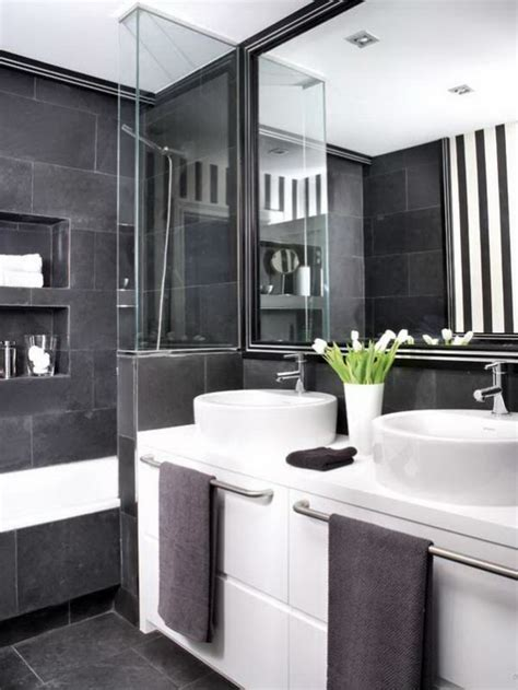black and white bathroom ideas 71 cool black and white bathroom design ideas digsdigs