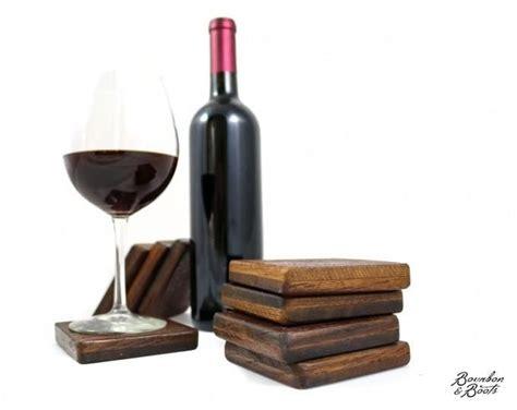 authentic reclaimed napa valley wine barrel coaster set