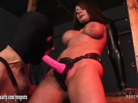 Strap Sales And Personal Website Subscriptions Mistress Making Gimp Swallows Her Spunk Soaked Dildos After Wank