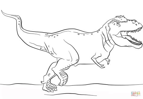 Jurassic Park T-rex Coloring Page