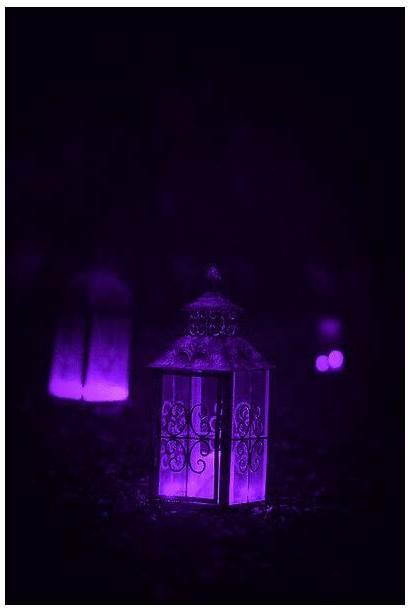 Lanterns Aesthetic Purple Candle Gothic Lantern Dark
