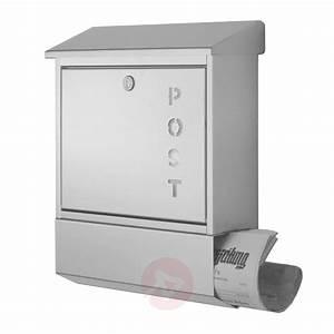 Namensschild Für Briefkasten : briefkasten york aus edelstahl mit zeitungsfach kaufen ~ Whattoseeinmadrid.com Haus und Dekorationen
