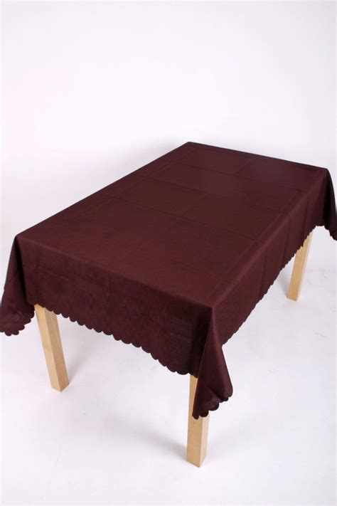 tablecloth for oval table brown polyester tablecloth 70x90 oval easycare tablecloths