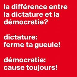 Difference Entre Catalyse Et Pyrolyse : la diff rence entre la dictature et la d mocratie ~ Premium-room.com Idées de Décoration