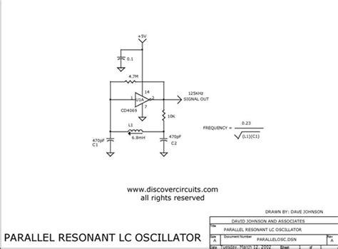 Cmos Inverter Parallel Oscillator Circuit