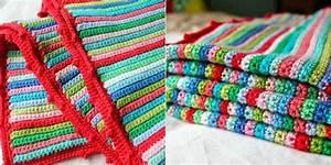 Skinny Stripe Crochet Blanket [Free Pattern] STYLESIDEA