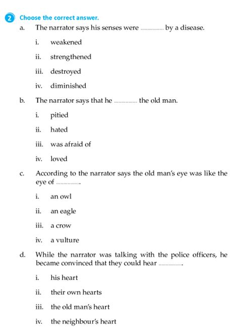 Literature Grade 8 Short Stories The tell-tale Heart