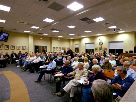 Packed Rooms by Participation At Town Meeting Sun