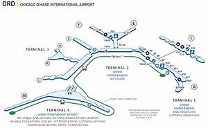 Chicago O'Hare Int'l (ORD) Airport Map   United Airlines