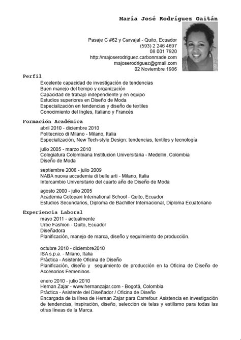 Cv Proforma by Proforma Curriculum Vitae En Espa Ol Pay For Essay