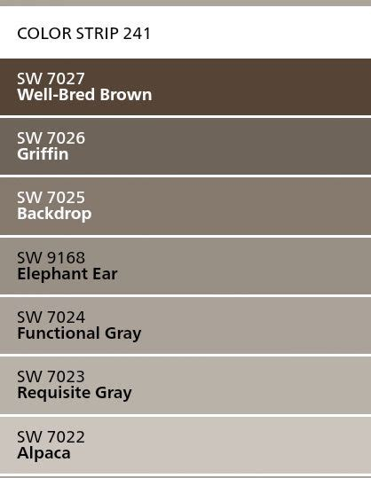 sherwin williams color strip  alpaca requisite gray