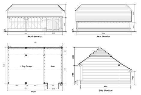 oak garage plans