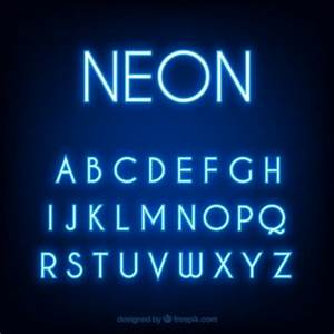 Neon Font Vectors s and PSD files