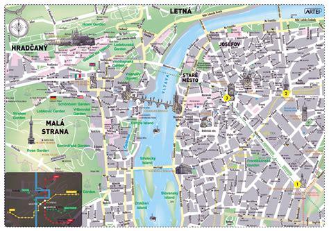 large tourist map  prague city prague czech republic