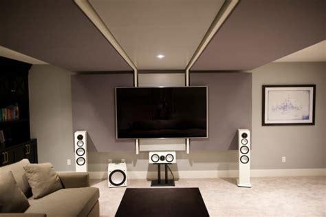 basement transformed  home theatre entertainment room