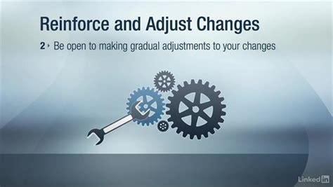reinforce  adjust  change
