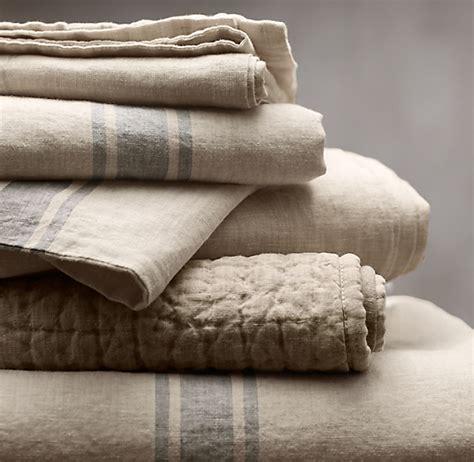 belgian linen provence stripe duvet cover
