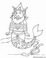 Merman Coloring Captive Pages sketch template