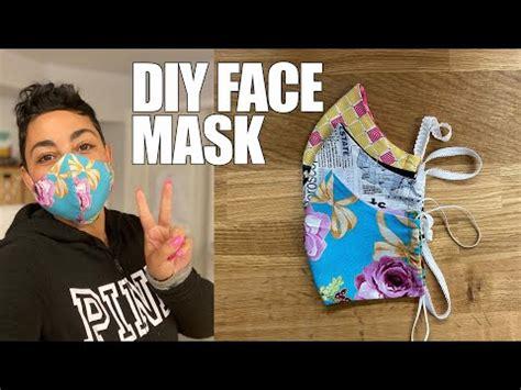 diy fabric face mask blogtubez