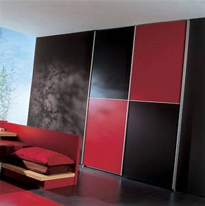 Elegant black and red bedroom for Black and red bedroom ideas