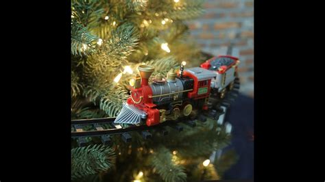 christmas tree train set    tree train