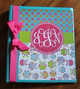 Personalized Binder Cover Insert - Owl - Hot Pink - DIY ...