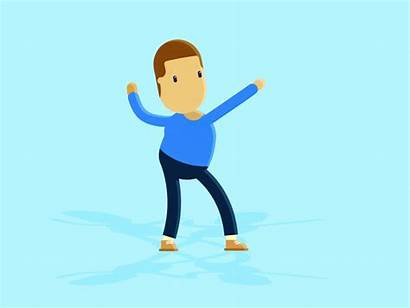 Boy Dancing Dance Dribbble Words Action