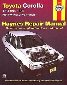 Toyota Corolla Repair Shop Manual 1984-1992