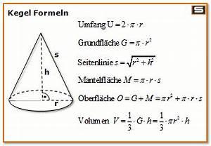 Kreisvolumen Berechnen : kegel formel online berechnen kegel volumen obefl che mantelfl che berechnen ~ Themetempest.com Abrechnung