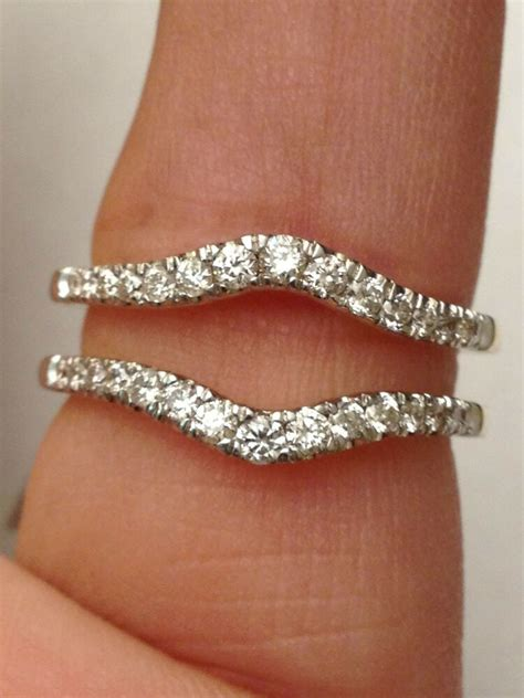 solitaire enhancer diamonds ring guard wrap  white