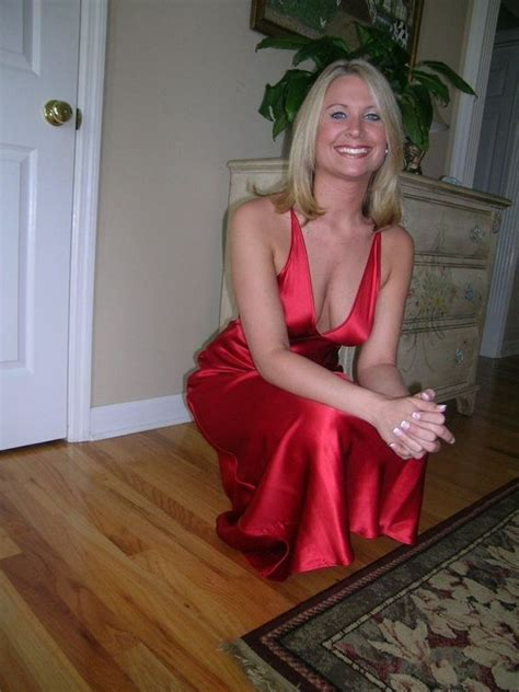 Red Satin Dress Mature Satin Clothes Pinterest Sexy