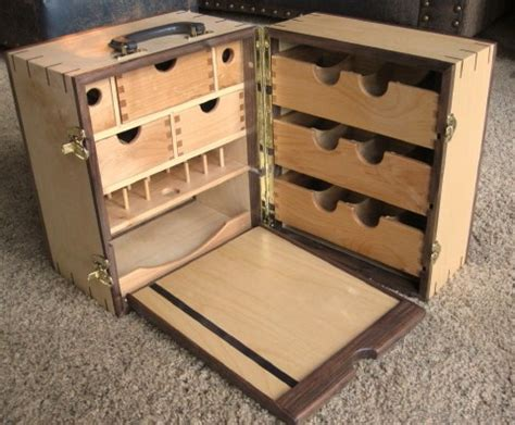 handcrafted portable fly tying desk station table