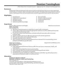 Professional Resume Sles In Word Format by Sales Manager Resume Template For Microsoft Word Livecareer