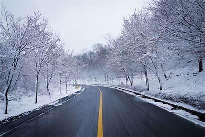 Snow Winter Road Ice Scenery 5k 4k