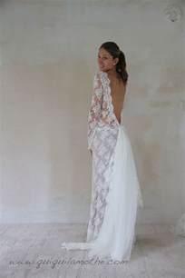 robe de mariée en dentelle de calais bohème dos nu waiting for wedding robes - Robe Mariã E Boheme Dentelle