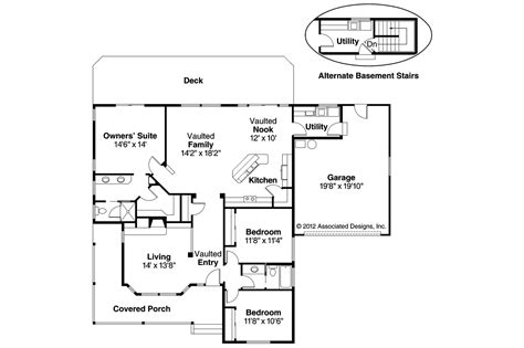 Craftsman Floor Plans by Craftsman House Plans Cambridge 10 045 Associated Designs