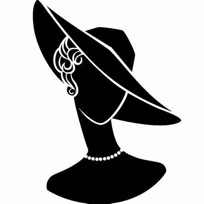 Lady Hat Silhouette Transparent 1200 Clipart Stencil