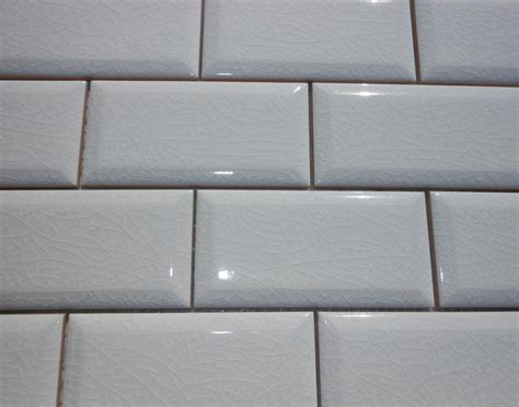 beveled subway tile 2 quot x 4 quot adex hton beveled subway crackle white tile from classic tile marble inc in