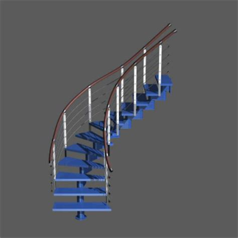 3d escalier de mode bleu 3d model download free 3d models