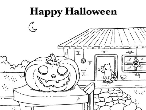 happy halloween coloring pages coloringsuitecom