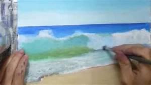 Comment Dessiner La Mer : peindre une vague hyperr aliste youtube ~ Dallasstarsshop.com Idées de Décoration