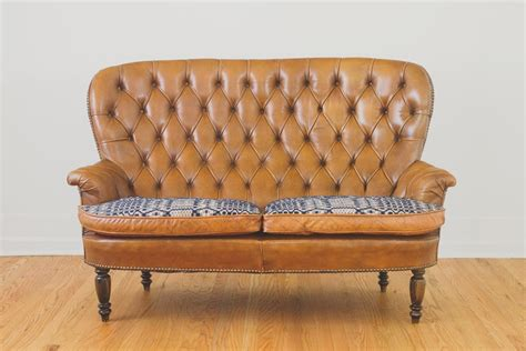 Settee Leather by Antique Leather Settee Homestead Seattle